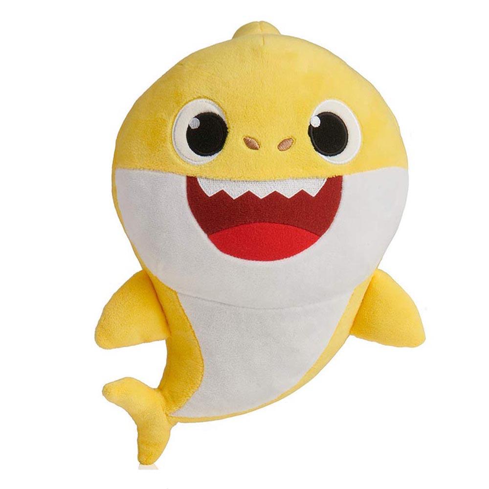 دمية طفل القرش من ماركة بينك فونج بيبي شارك أصفر