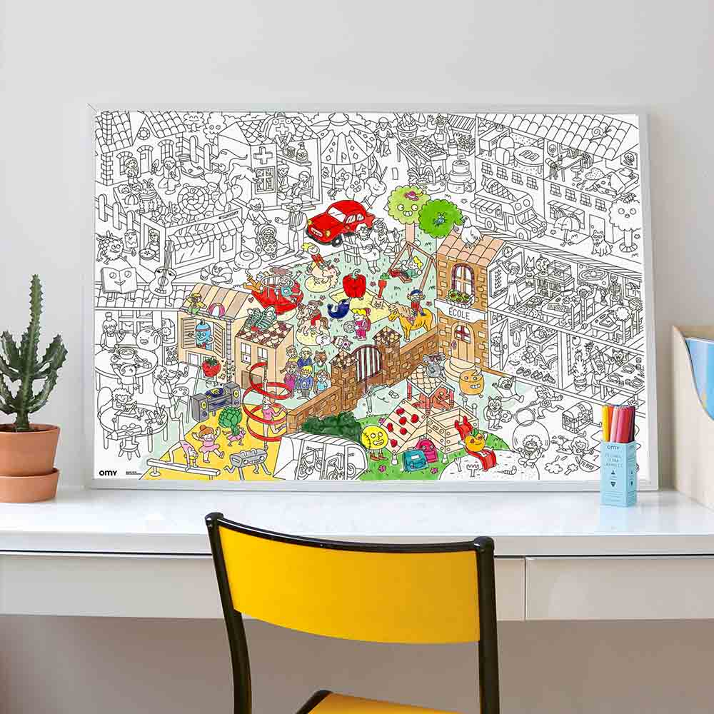 cns omyl38 omy large kids life coloring poster white