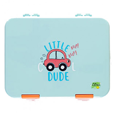 Citron Bento - 4 Compartment Lunch Box Cars - Baby Blue