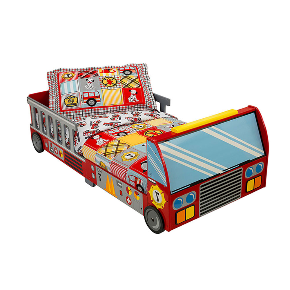 Brilliant Kidkraft Firetruck Toddler Bed Red Bralicious Painted Fabric Chair Ideas Braliciousco