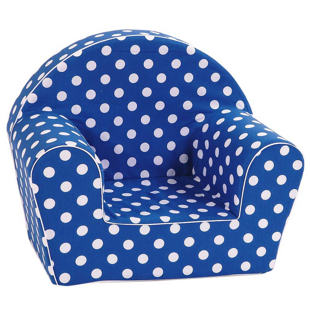 Delta Trade - Arm Chair With White Spots - Navy Blue