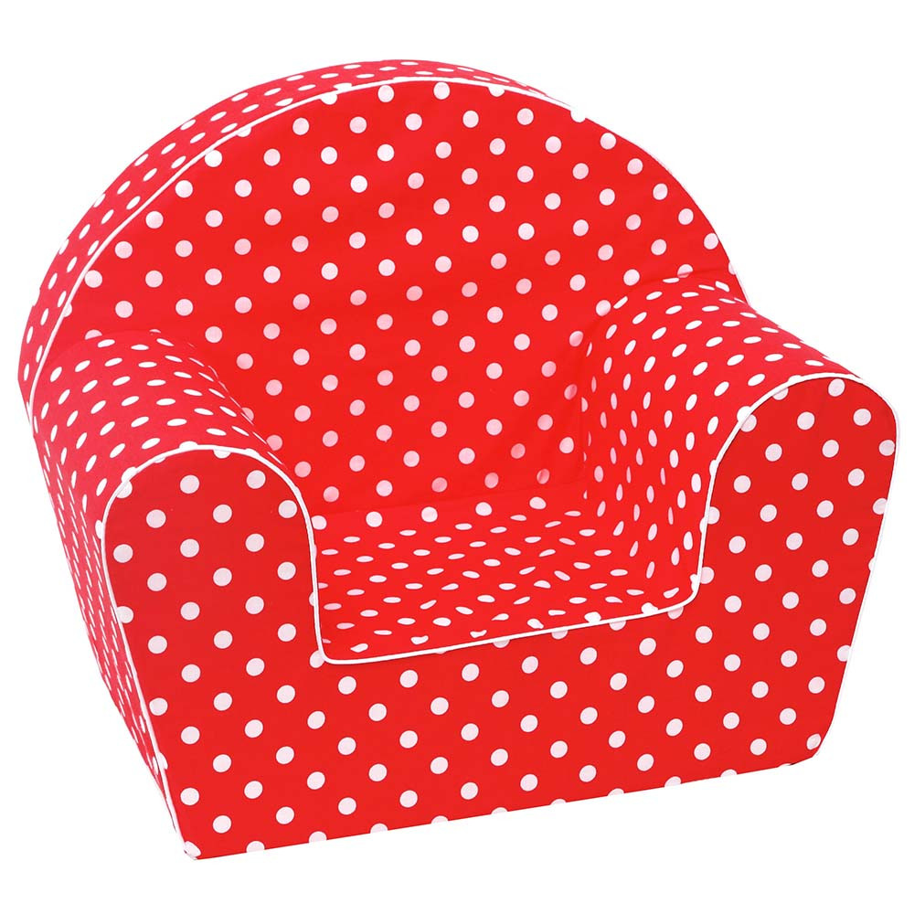 Delta Trade - Arm Chair With White Spots - Red