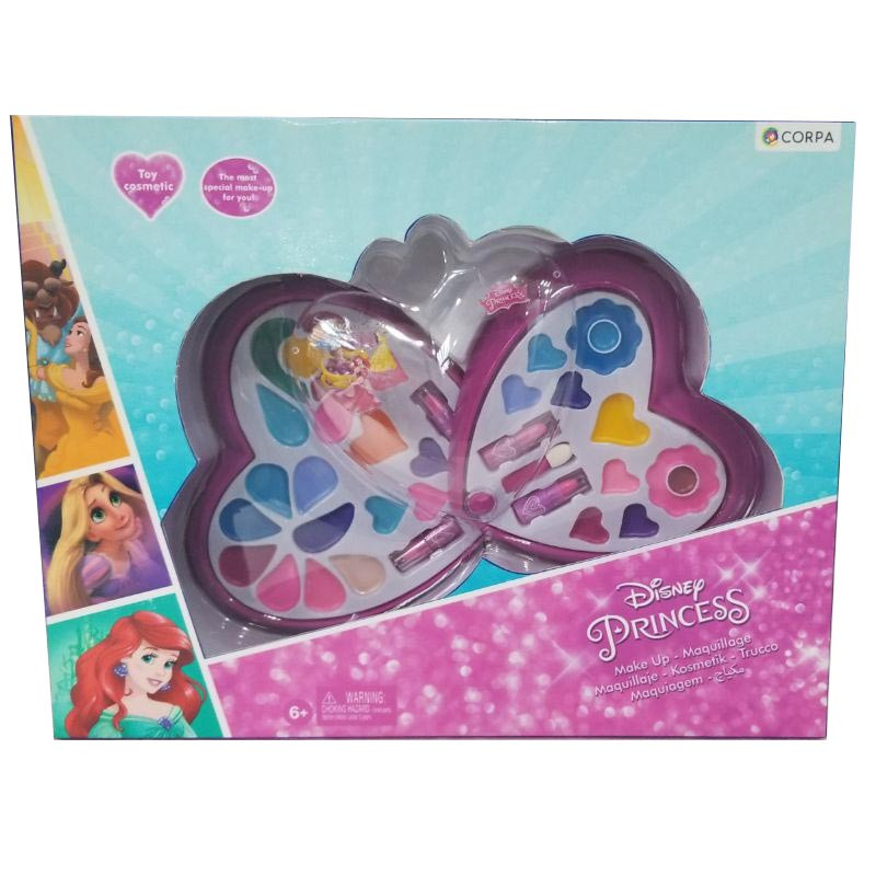 Disney Princess 2 Decks Heart Shaped Cosmetic Set