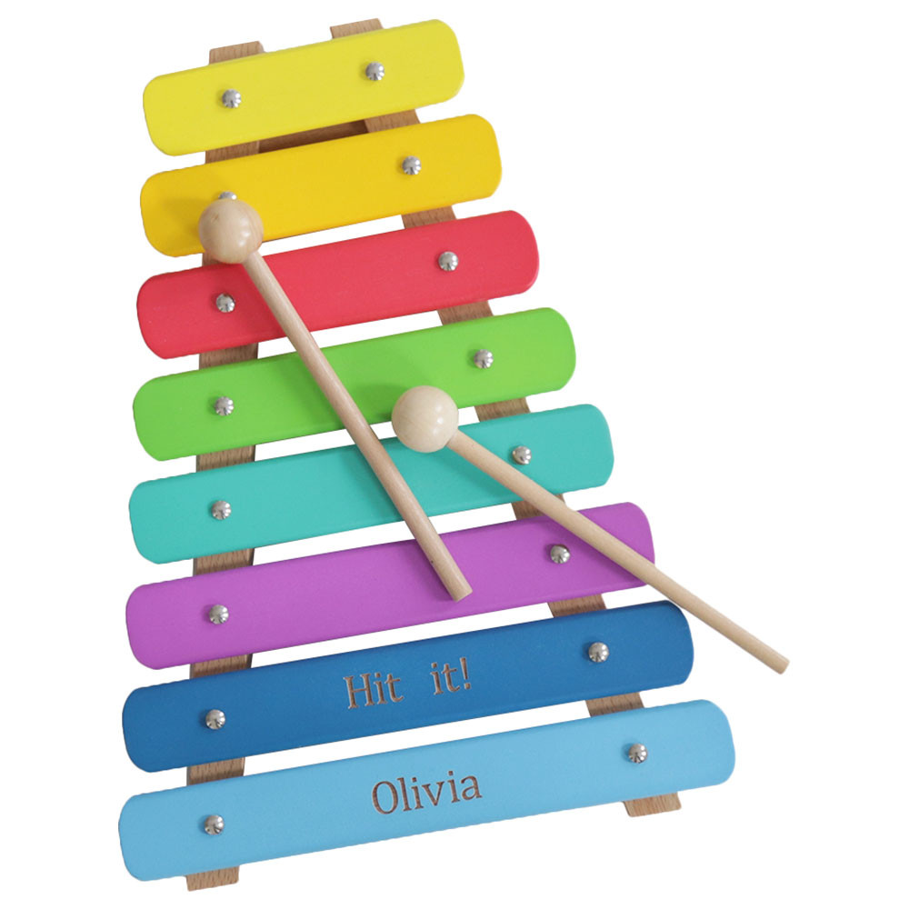 my 1st years - personalised colourful wooden xylophone toy