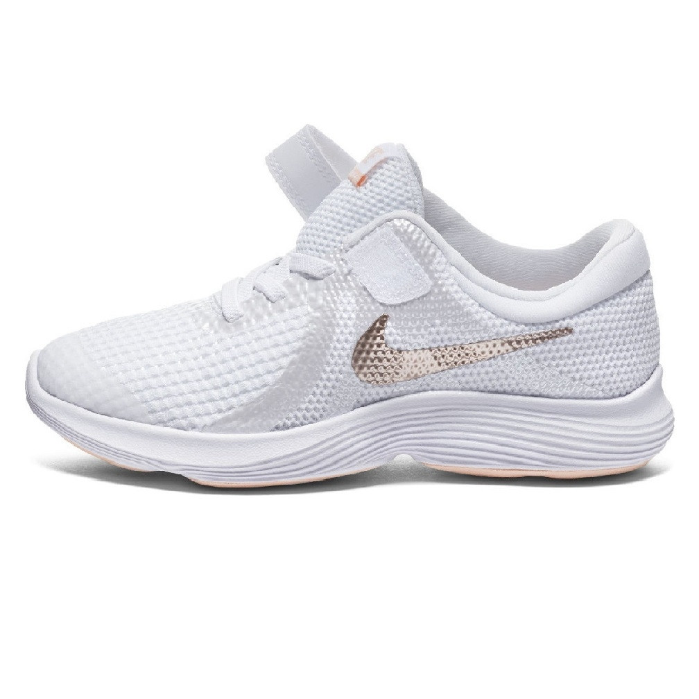ceaaa804a9 NIKE - Revolution 4 Preschool Velcro Shoes - White