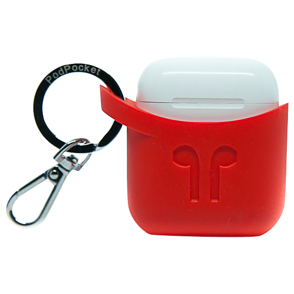 wholesale dealer 097e6 58385 PodPocket - Silicone Case for Apple Airpods - Blazing Red