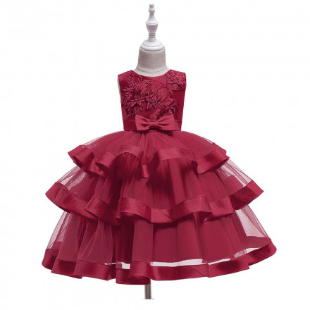 Super Cute Tiered Sleeveless Party Dress Red