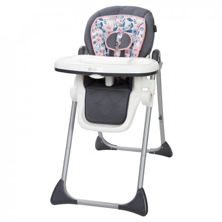 Removable Tray Little BambinoFoldable Fully Adjustable Baby Highchair Child Feeding High Chair Compact Soft Snack Chair Adjustable Baby Highchair