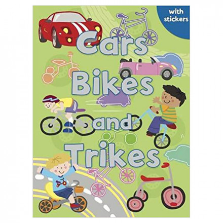 Cars Bikes And Trikes Colouring Stickers Activities