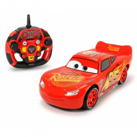 sa dickie toys cars 3 rc feature lightning mcqueen 1 16 red