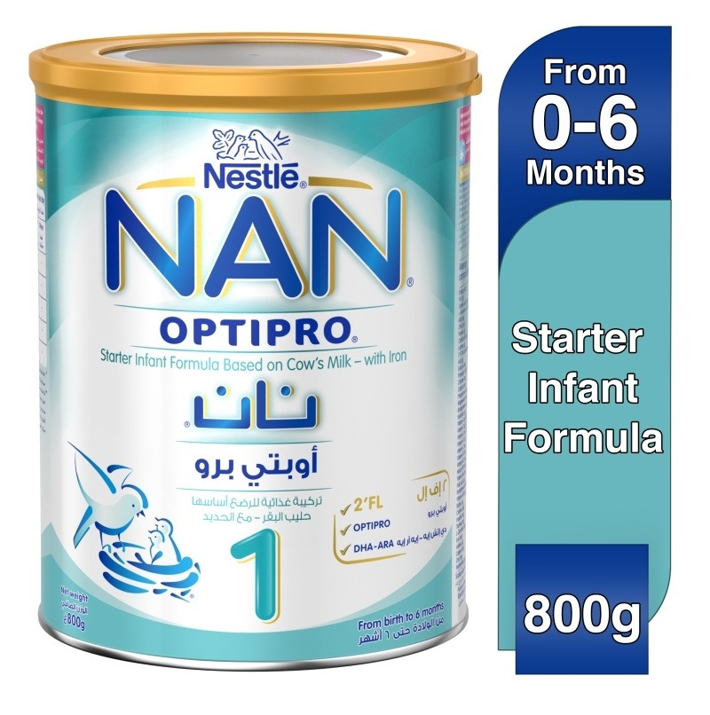 Nestle NAN OPTIPRO Stage-1 0-6M Premium Starter Infant Formula Powder Tin  800g