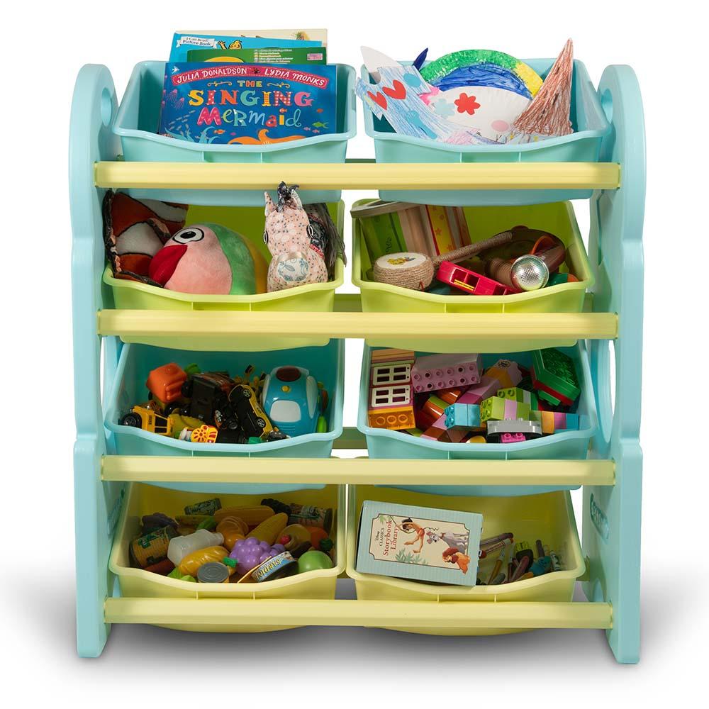 Multi Bin Toy Organizer W Storage Bins