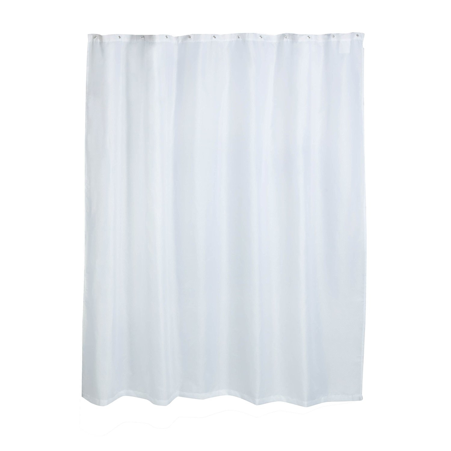 Honey Can Do Curved Rod Vinyl Shower Curtain Liner