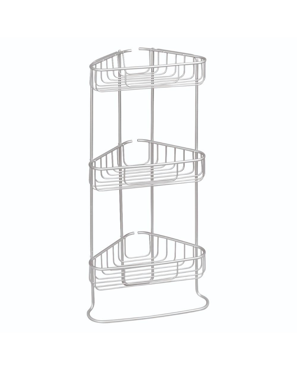 Inter Design Metro Aluminium 3 Tier Corner Shower Shelf