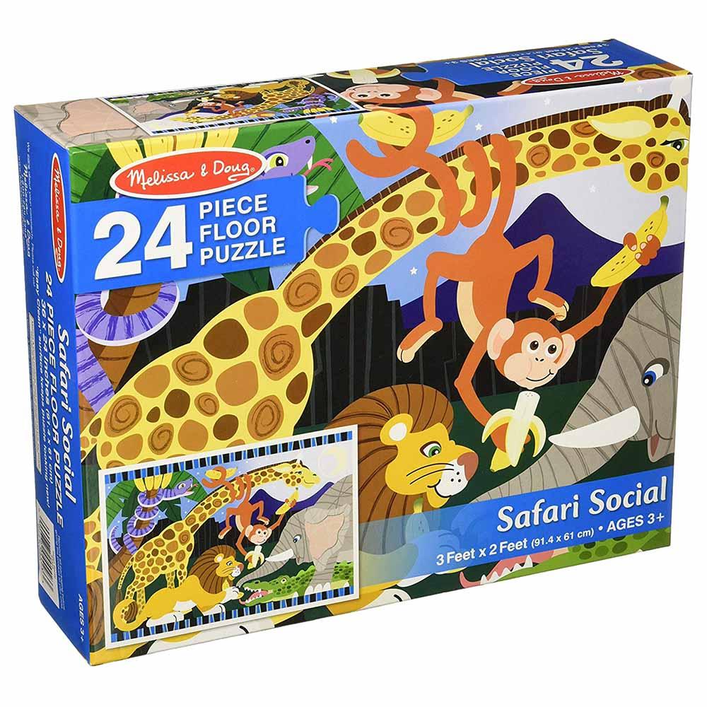 Melissa Doug Safari Social Floor Puzzle 24pcs