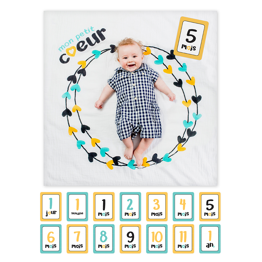 Lulujo Milestone Blanket//Card Set