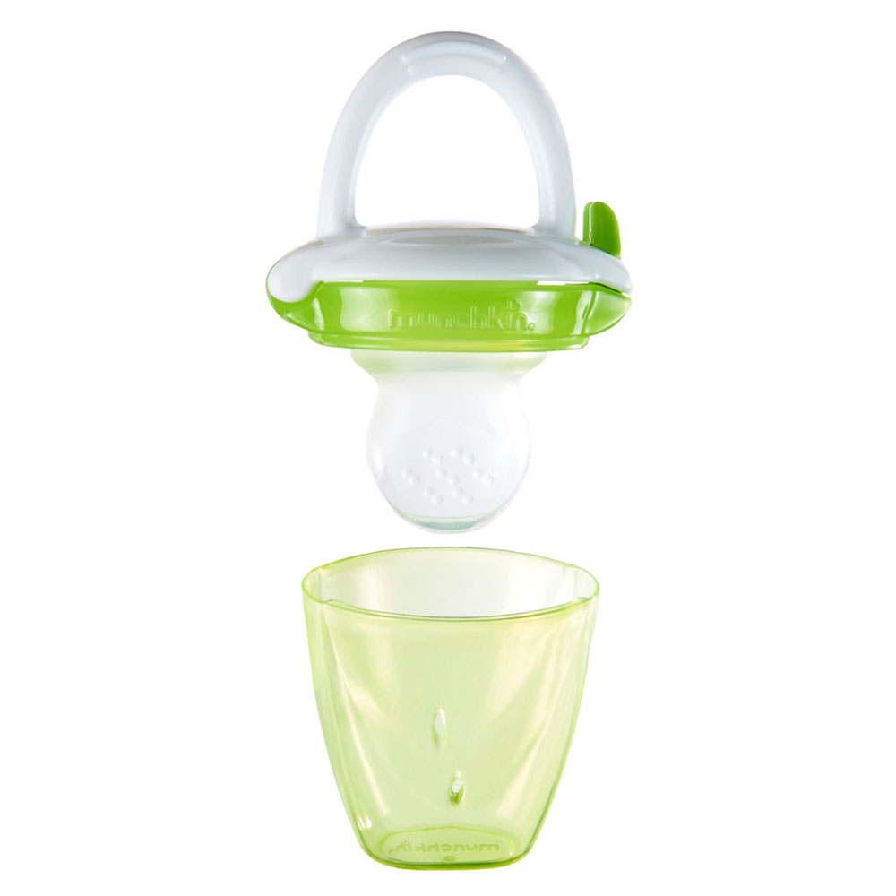 Purple// Green Soft Easy To Use Baby Feeding Munchkin 2-Piece Fresh Food Feeder