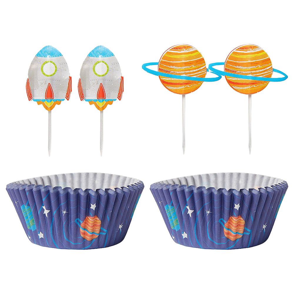 Party Centre - Blast Off Birthday Cupcake Decorating Kit