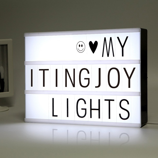 Letter Light Boxes.Letter Light Box A4