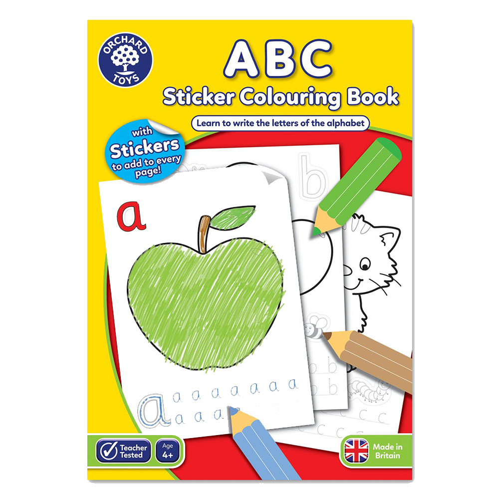 ses orcb02 orchard toys abc colouring book