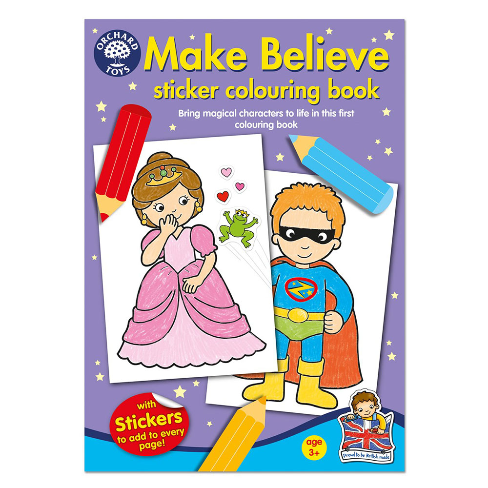 ses orcb05 orchard toys make believe colouring book