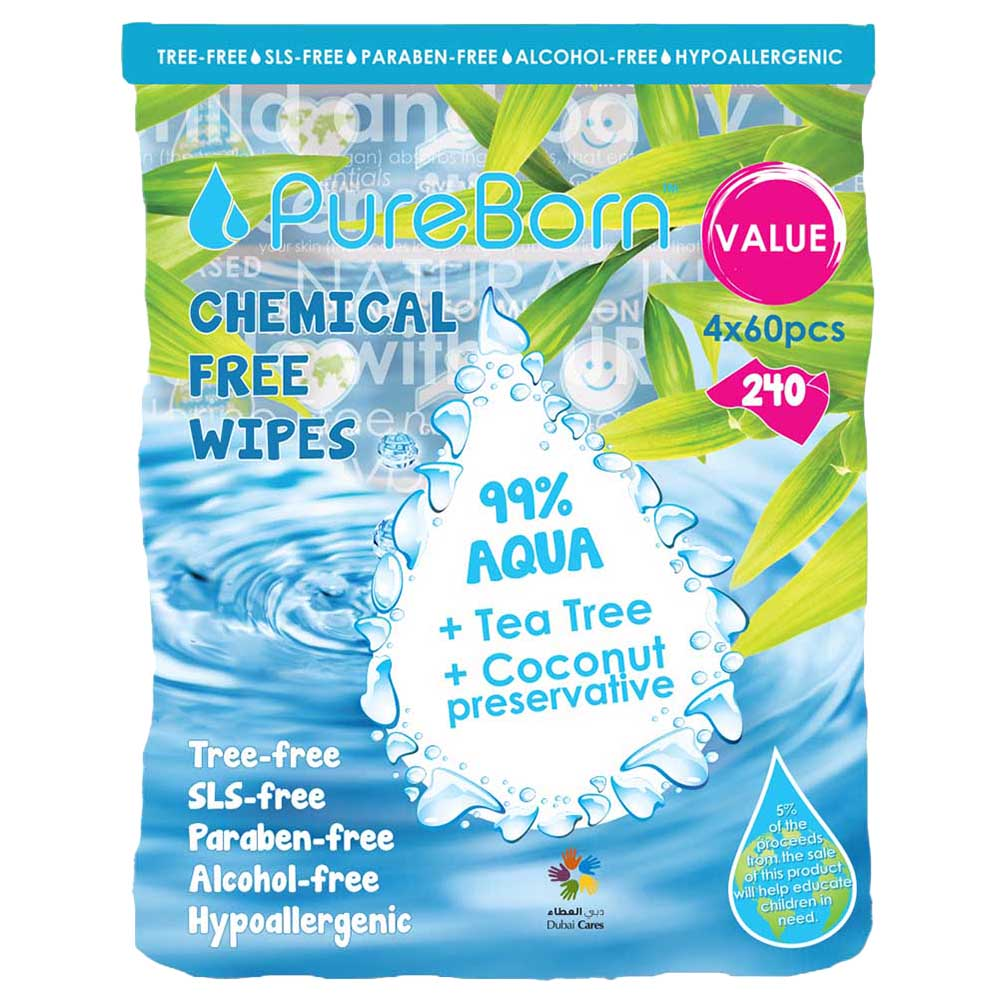 100/% Pure Authentic Bamboo 2 PACK Dry Bamboo Wipes Baby//Multi-purpose 60 ct