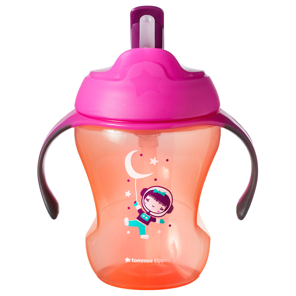 Blue Space Tommee Tippee Insulated Straw Cup 12m+