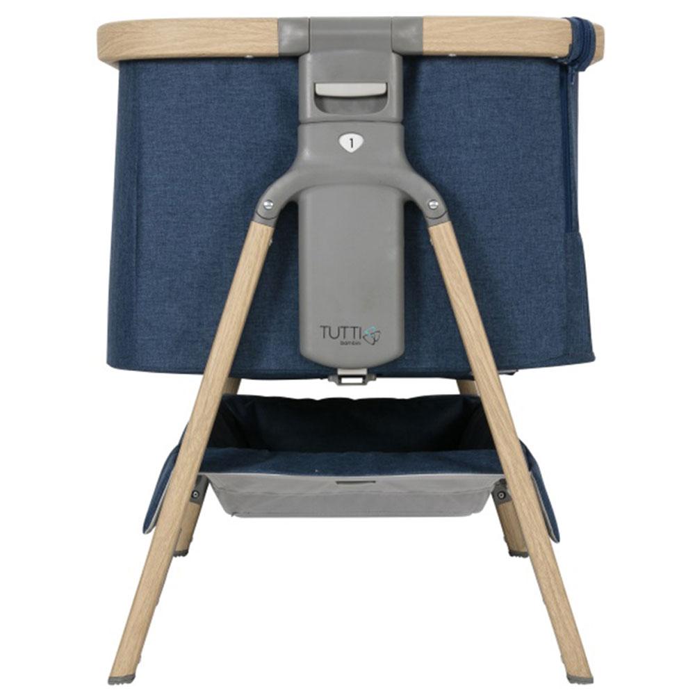 online store 8374d 83a5e Tutti Bambini Cozee Bedside Crib-Oak/Midnight Blue